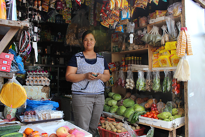 Jennifer M. Maggay, sari-sari store owner in Basco, Batanes. Photo by Christina Newhard
